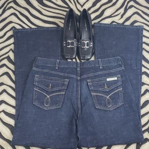 Calvin Klein Dark Wash High Waist Flare Jeans